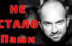 Скончался Паша Фейс-контроль