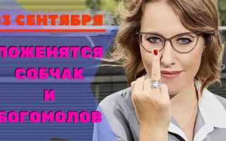 Ксения Собчак и Константин Богомолов поженятся 13 сентября