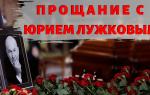 Прощание с Юрием Лужковым. Москва частично перекрыта из-за большого наплыва людей